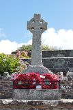 Broad Haven remembrance war memorial August 2018 stock photography