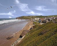 Broad haven Sea Front Royalty Free Stock Image