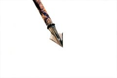 Broad-head arrow. One broad-head arrow on white Royalty Free Stock Image