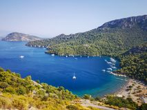 Sarsala bay,View, Gocek, Turkey royalty free stock photos
