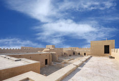 Broad inside view of southern area of Riffa fort Stock Photos