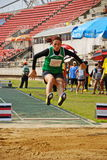 Broad jump chalege in thailand Stock Photos