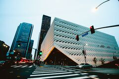 The Broad in Los Angeles Stock Image