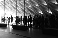 The Broad Museum from inside Royalty Free Stock Photo