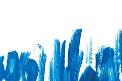 Broad patterns of blue paint Stock Photos