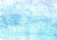 Broad patterns of water-colour on a moist paper. Texture of moist paper of the water-colour covered by strokes Stock Photo