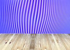 Broad planks and blue blur background. Stock Images