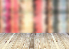 Broad planks and bright colorful blur background. Stock Image