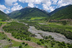 Broad plateau valley Stock Photography