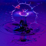 Broad Shield of Water from a Waterdrop Royalty Free Stock Photography