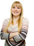 Broad smile blonde Royalty Free Stock Photo
