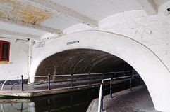 Broad street canal tunnel, Birmingham. Royalty Free Stock Photos