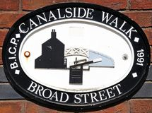 Broad Street Canalwise Walk Sign. Royalty Free Stock Photography