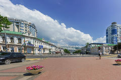 Broad street Novorossisk Republic in the Central part of the city of Novorossiysk. Russia Stock Photography