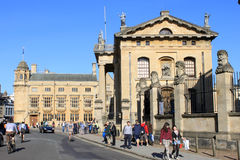 Broad Street, Oxford with Clarendon Building Royalty Free Stock Photos