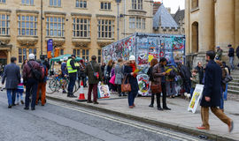 Broad Street, Oxford, UK, 27th November 2016: Art installation b Stock Photo