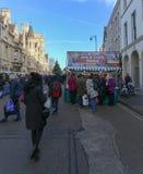 Broad Street, Oxford, Vereinigtes Königreich, am 4. Dezember 2016: Künste stockbild