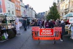 Broad Street, Oxford, Vereinigtes Königreich, am 4. Dezember 2016: Künste stockfotografie