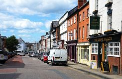 Broad Street shops, Leominster. royalty free stock photography