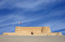 Broad view of Arad fort, photographed from south. Arad Fort is a 15th century fort in Arad, Bahrain Stock Photography