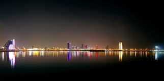 Broad view of Bahrain skyline, HDR Stock Photography