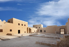 A broad view of the western area of the Riffa Fort Royalty Free Stock Photo