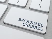 Broadband Channel - Internet Concept. Royalty Free Stock Photos