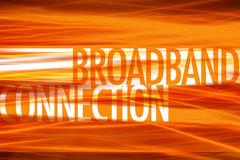 Broadband Connection- Technology background Stock Image