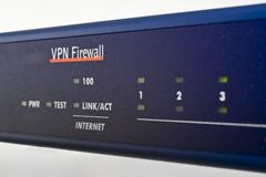 Broadband internet firewall router Stock Image