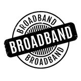 Broadband rubber stamp Royalty Free Stock Image