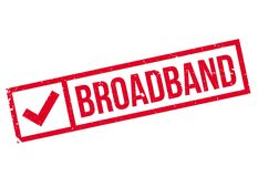Broadband rubber stamp Stock Images