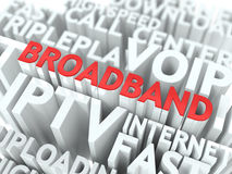 Broadband. The Wordcloud Concept. Stock Image