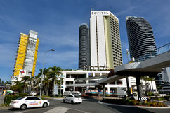 Broadbeach Gold Coast Queensland Australien Royaltyfri Fotografi
