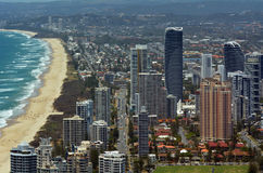 Broadbeach Gold Coast Queensland Australien Royaltyfri Foto