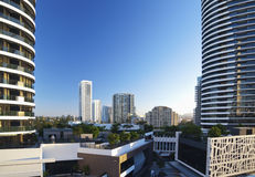 Broadbeach view, Gold Coast Australia. Broadbeach view including the new Oracle buildings Royalty Free Stock Photos