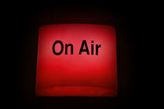 Broadcast On Air light. On air warning light used in live television and radio broadcasting Royalty Free Stock Image