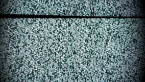 Broadcast break, television static noise stock footage