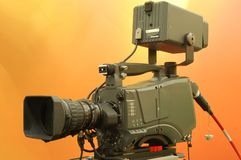 Broadcast camera Royalty Free Stock Photography