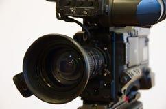 Broadcast camera. Broadcast sd camera lens closeup Stock Photography