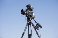 Broadcast camera. Under blue sky Royalty Free Stock Photo