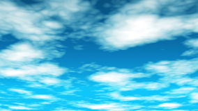 Broadcast Clouds Fly Through 01 stock footage