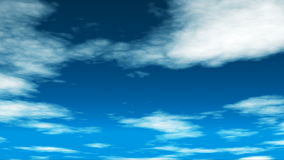Broadcast Clouds Fly Through 02 stock footage