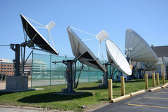 Broadcast dishes Stock Photo