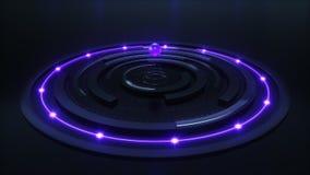 Broadcast futuristic circles. 3d rendering of the broadcast futuristic circles