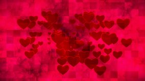 Broadcast Grungy Pulsating Hearts Smoke Squares, Red, Events, 3D, Loopable, HD
