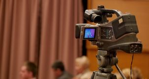 Broadcast Hd Video Camera. In work stock footage