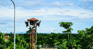 Broadcast. The news spread in the countryside of Thailand Royalty Free Stock Photography