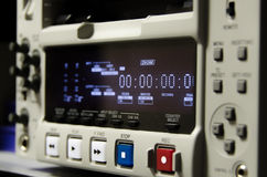 Broadcast recorder. Powered on broadcast dvcam recorder Stock Photo