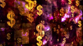 Broadcast Rising Dollars 01 stock footage