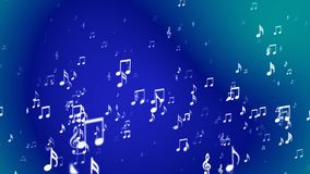 Broadcast Rising Music Notes, Blue, Events, Loopable, 4K